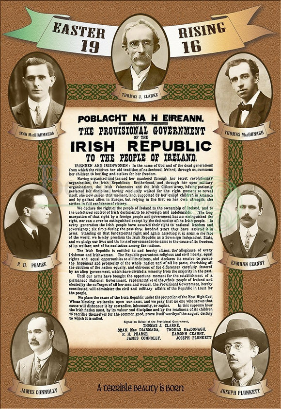 Signatories Of The Proclamation (Brown) 8X15.5In Print