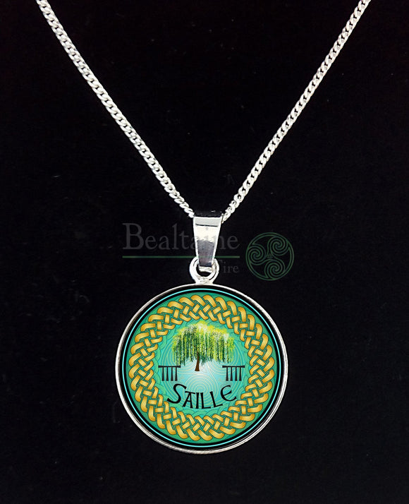 5. Silver Saille - Willow Apr 15 To May12 Green Pendant