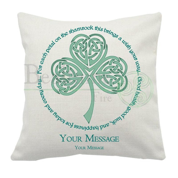 The Lucky Shamrock Cushion Cover