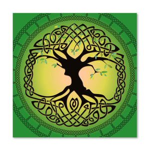 Summer Tree of Life on Canvas 12x12in