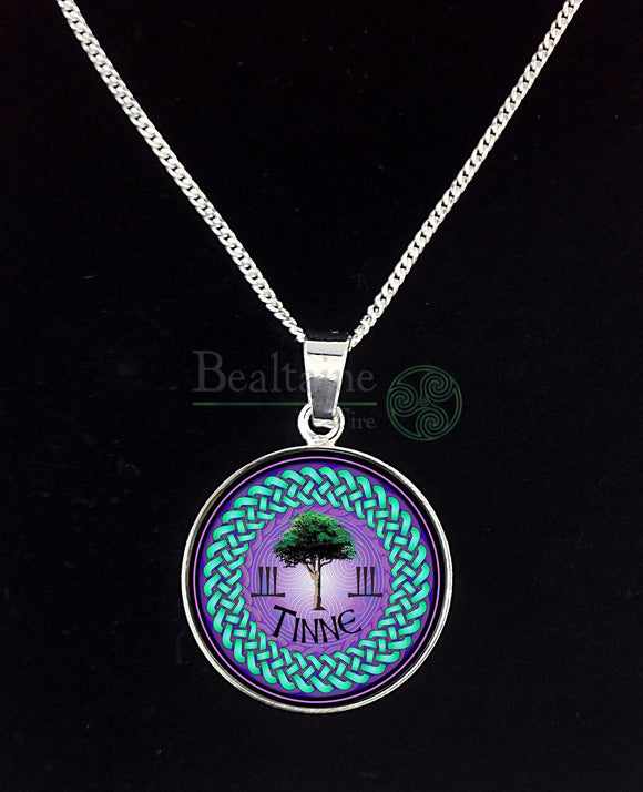 8. Silver Tinne - Holly Jul To Aug 4 Purple Pendant