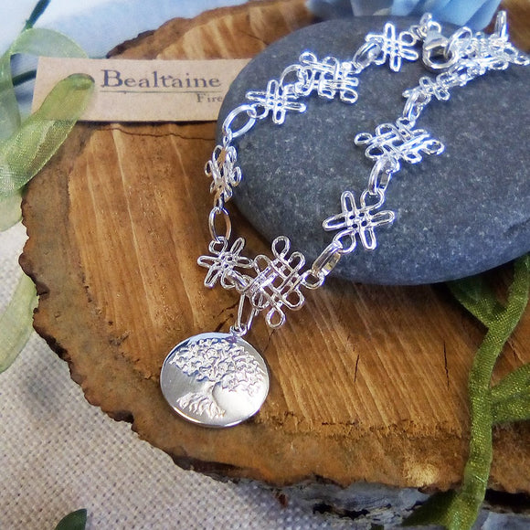 Silver Celtic Tree Of Life Charm Bracelet Silver Jewellery