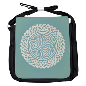 Small Triquetra Triskele Turquoise Bag