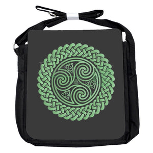 Small Triquetra Triskele Green Bag