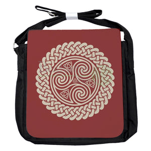 Small Triquetra Triskele Red Bag
