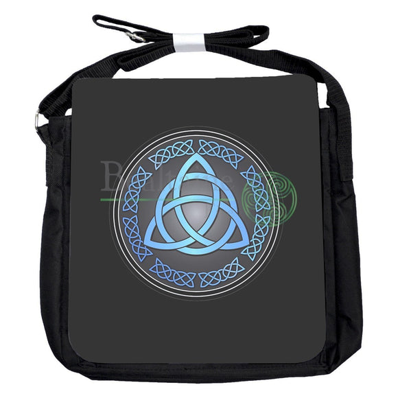Small Triquetra Blue Bag