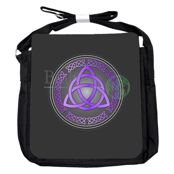 Small Triquetra Purple Bag