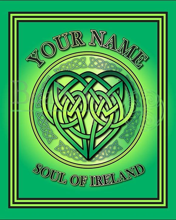 Personalised Soul Of Ireland 8In Print