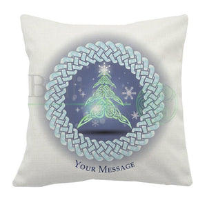Personalised Cool Yule Cushion Cover