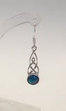 Silver Celtic Abalone Earrings Silver Jewellery