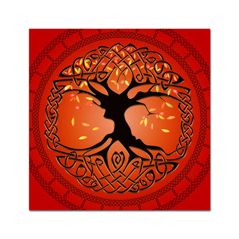 Autumn Tree of Life on Canvas 12x12in