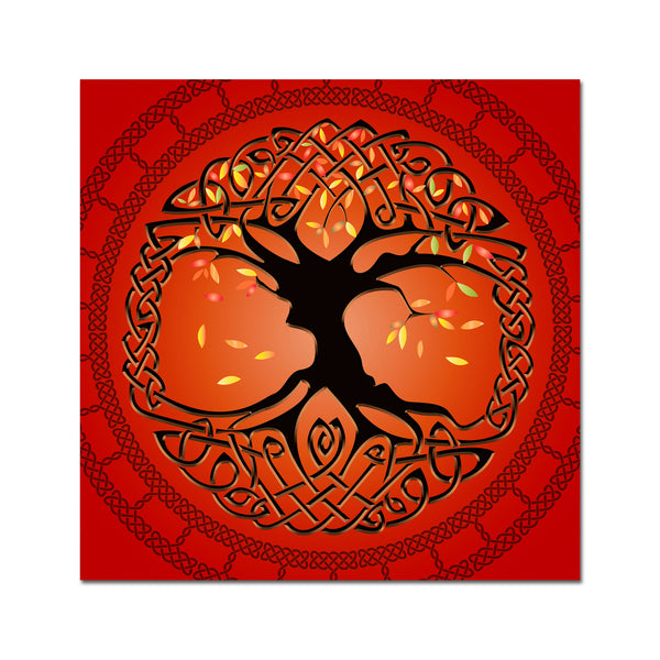 Autumn Tree of Life on Canvas 16x16in