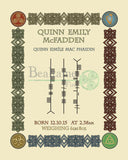 Celtic Birth Date Ogham 8X10In / All Colours Print