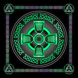 Celtic Cross (5 Colours) 8In / Green Print