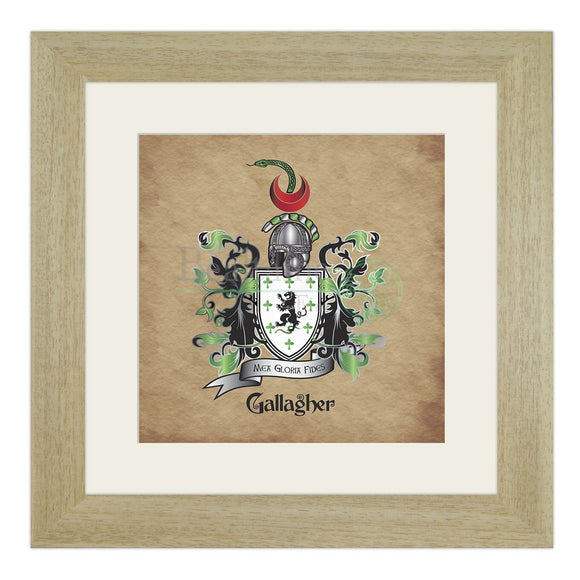 Gallagher Coat Of Arms (And Variations) Light Oak (Light)