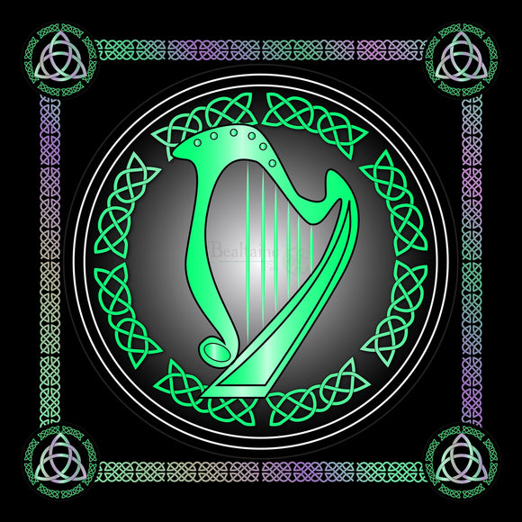 Harp (5 Colours) 8In / Green Print