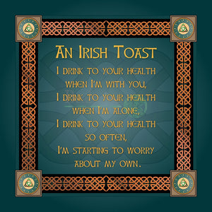 Old Irish Toast 8In Print