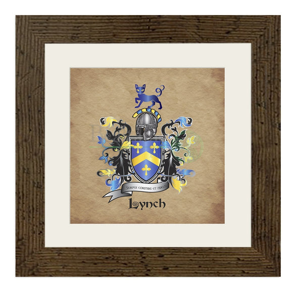 Lynch Coat Of Arms (And Variations) Walnut (Dark)