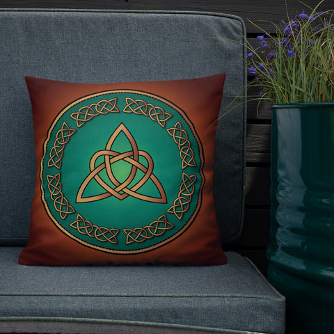 Heart Triquetra Throw Pillow