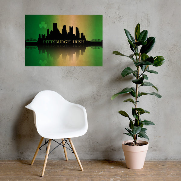 Pittsburgh Irish Premium Luster Unframed Print
