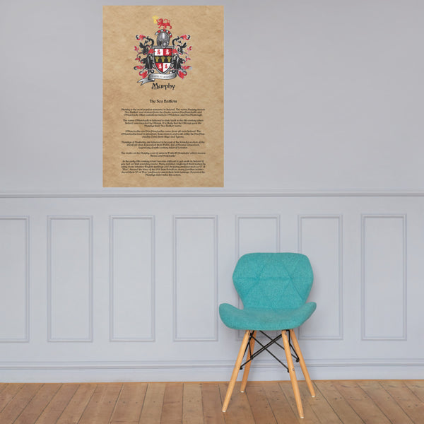 Murphy Coat of Arms Premium Luster Unframed Print