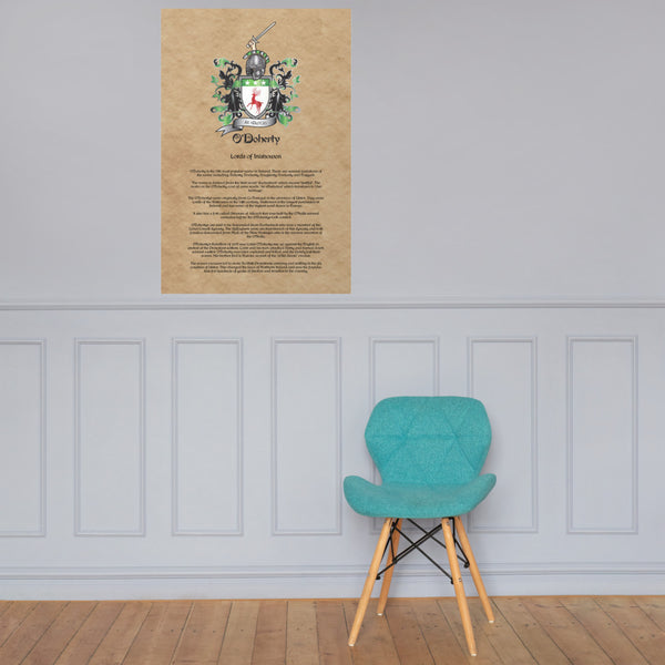 O'Doherty Coat of Arms Premium Luster Unframed Print