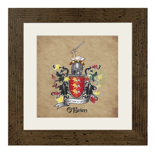Obrien Coat Of Arms (And Variations) Light Oak (Light)