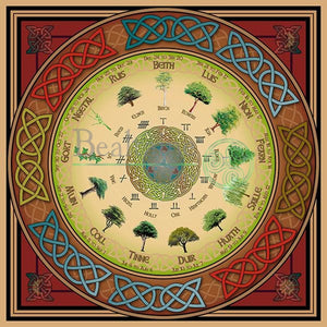 Ogham Tree Calendar 8In Print