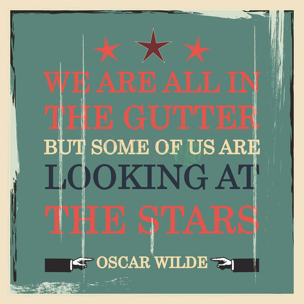 Oscar Wilde - Looking At The Stars (3 Colours) 8In / Blue Print