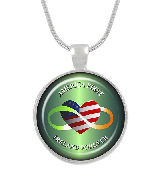 America First Ireland Forever 16In Pendant
