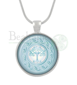Tree Of Life Blue / 16In Pendant