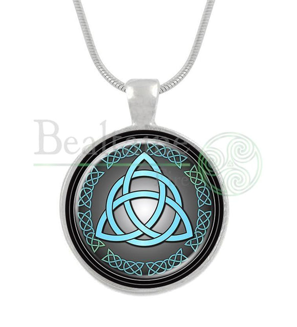Triquetra (5 Colours) Blue / 16In Pendant