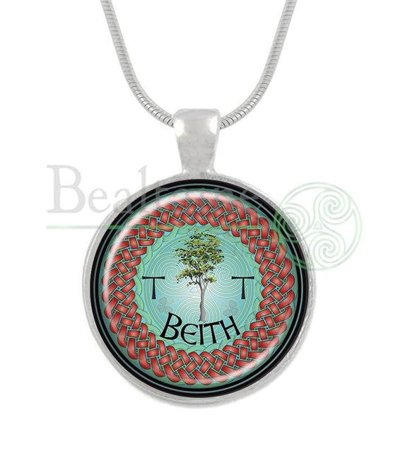 1. Beith - Birch December 24 To January 20 Turquoise / 16In Pendant