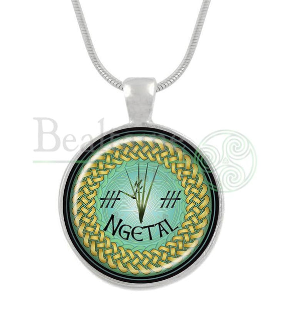12. Ngetal - Reed October 28 To November 24 Green / 16In Pendant