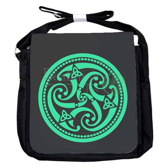 Small Triple Spiral Green Bag