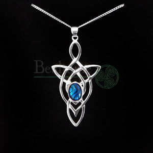 Silver Celtic Knot Abalone Pendant