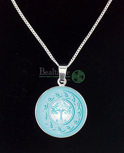 Silver Tree Of Life (2 Colours) Turquoise Pendant