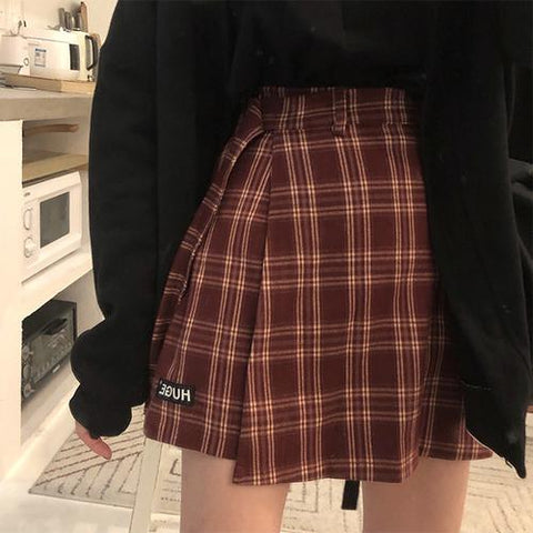 Jupe Short à Carreaux Vintage