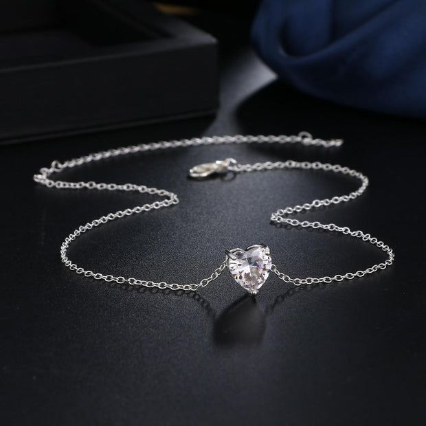 Collier - Coeur Zwarovski - HEXAGONE AVENUE