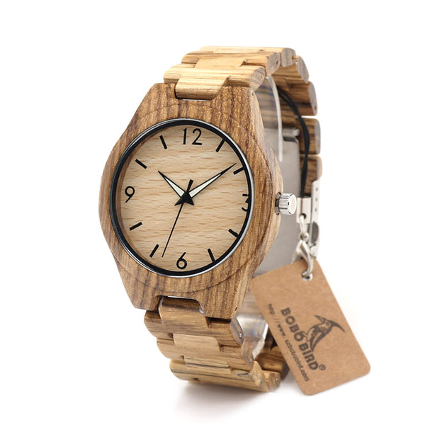 Men's Casual Luxury Analog Wood Wristwatch