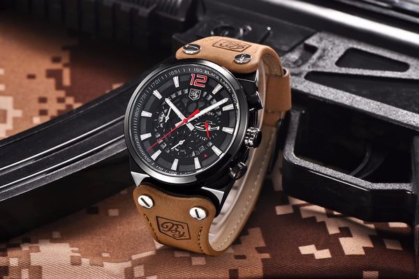Luxury Brand Chronograph Men's Waterproof Sport Watch