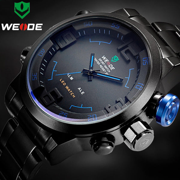 Men's Luxury  Full Steel Quartz Analog Sports Army Military Wrist Watch