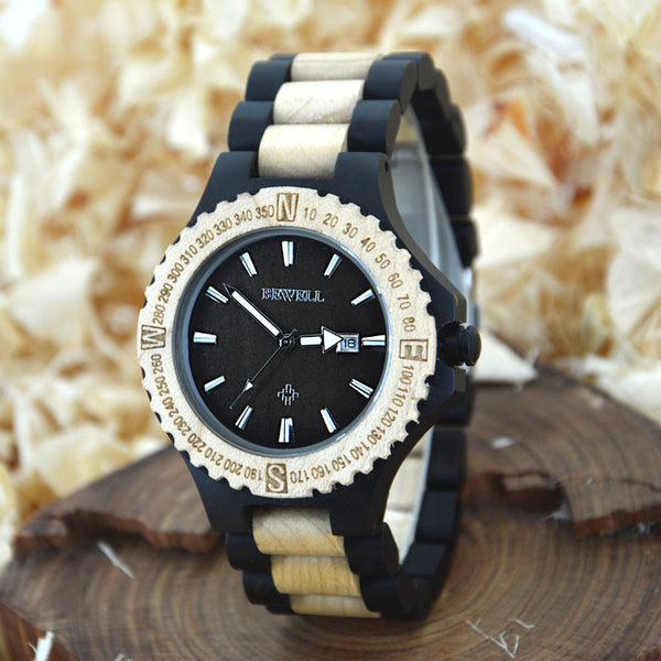 Men's Top Brand Luxury Water Resistant Wood Watch