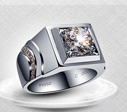 Genuine Silver 2ct Synthetic Diamond Ring