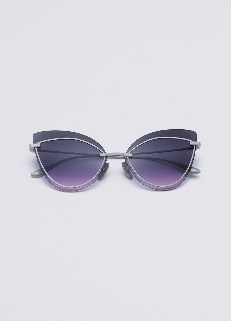 A SOCIETY LINDA - Purple Titanium Cat-Eye Sunglasses Front