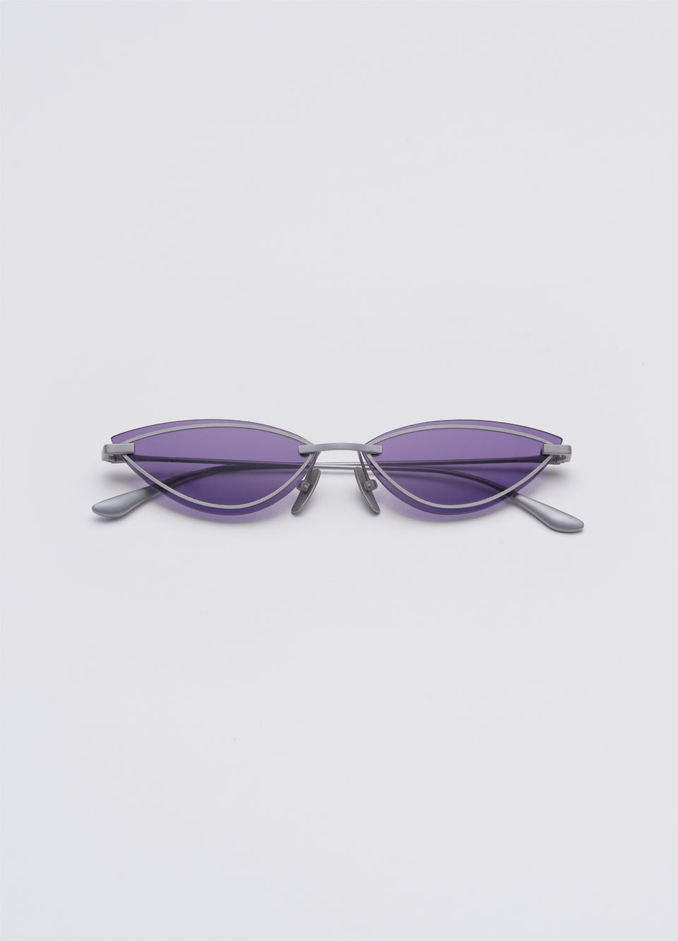 A SOCIETY LOLA - Purple Titanium Cat-Eye Sunglasses Front