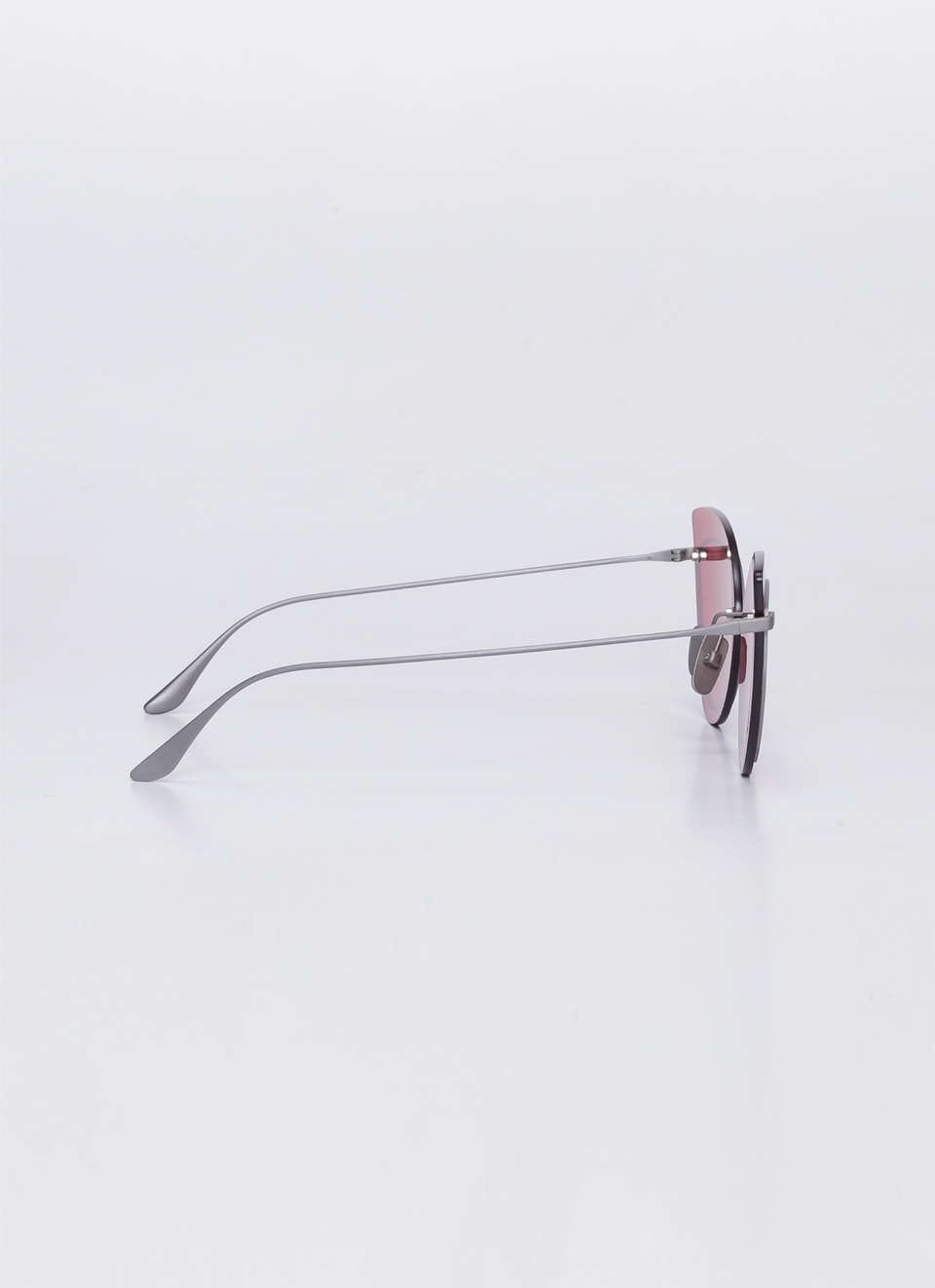 A SOCIETY LINDA - Red Titanium Cat-Eye Sunglasses Side