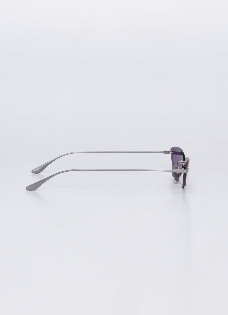 A SOCIETY LOLA - Purple Titanium Cat-Eye Sunglasses Side