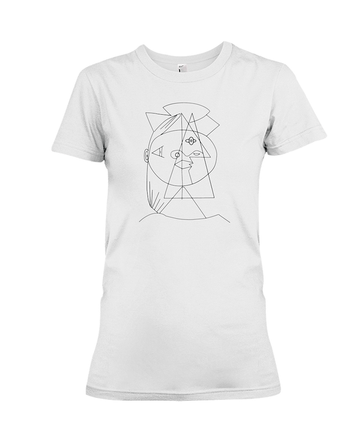 Picasso Cubic Womens Tee - Heartsi Co