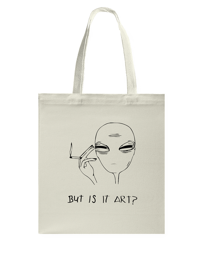 But Is It Art? Alien Tote Bag - Heartsi Co